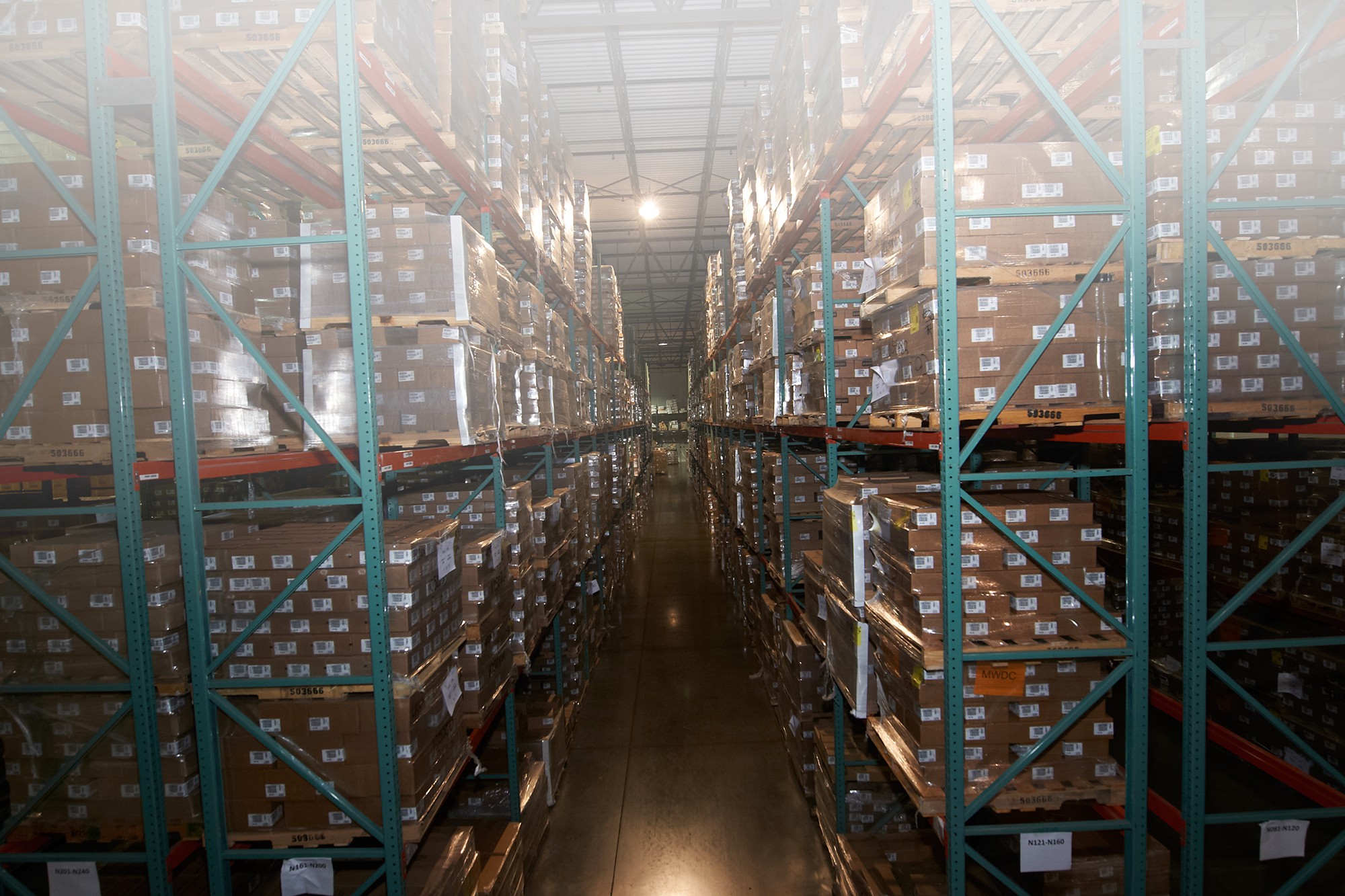 IDS distribution center shelves